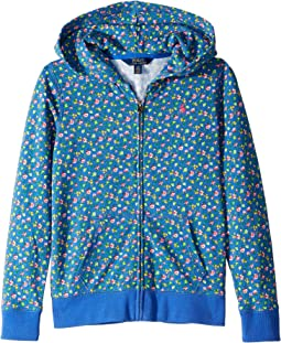Atlantic Terry Floral Full Zip Hoodie (Little Kids/Big Kids)