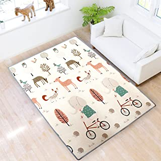 Play mat Baby Care PlayMat Baby mat Kids Play mat XPE Foam Floor Gym Slip Thickening Reversible Waterproof Play mat for Toddlers Portable Double Sides Kids Play Mat Baby Toddler Outdoor or Indoor Use
