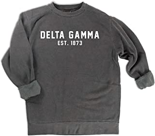 Comfort Colors Delta Gamma est. 1873 Sweatshirt | Sorority Sweatshirt