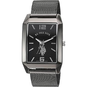 Amazon.com: U.S. Polo Assn. Classic Men's Quartz Metal and Alloy Watch, Color:Black (Model: USC80383): Watches