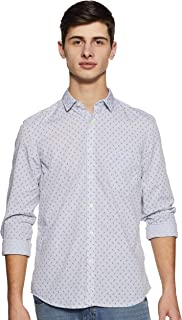 Pepe Jeans Men's Printed Slim Fit Cotton Casual Shirt