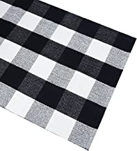 Black White Cotton Rug Checkered Doormat Plaid Area Rug Entry Way Porch Mat Washable Throw Rug 2x3 Rug