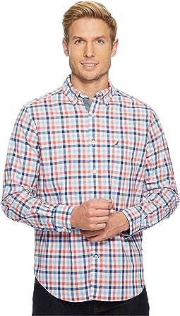 Long Sleeve Tattersall Woven Shirt