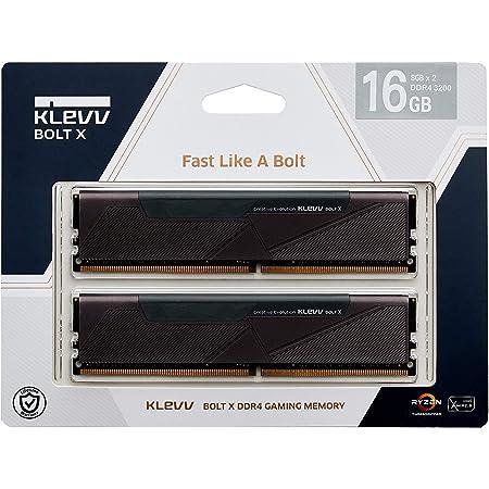 KLEVV デスクトップPC用ゲーミング メモリ PC4-25600 DDR4 3200 8GB x 2枚 288pin BOLTX シリーズ SK hynix製 メモリチップ採用 KD48GU880-32A160U