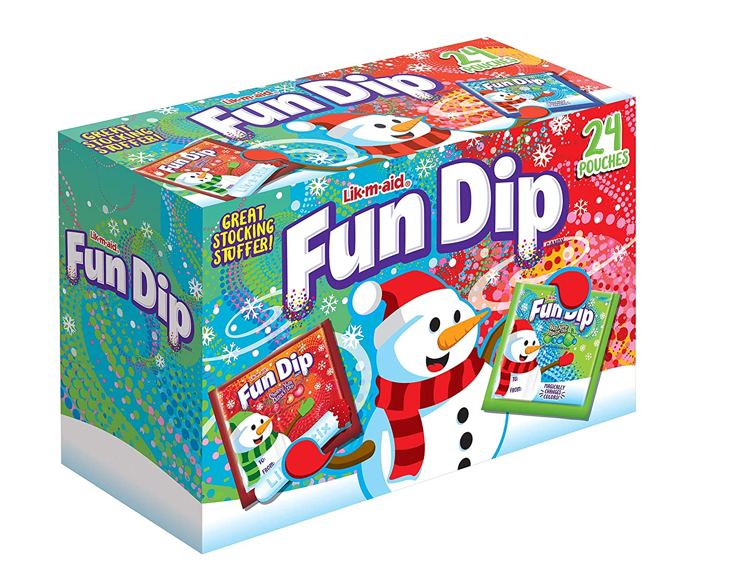 Lik-M-Aid 1 Box Fun Dip Max 81% Same day shipping OFF Holiday Cherry Edition Diddly an Yum -