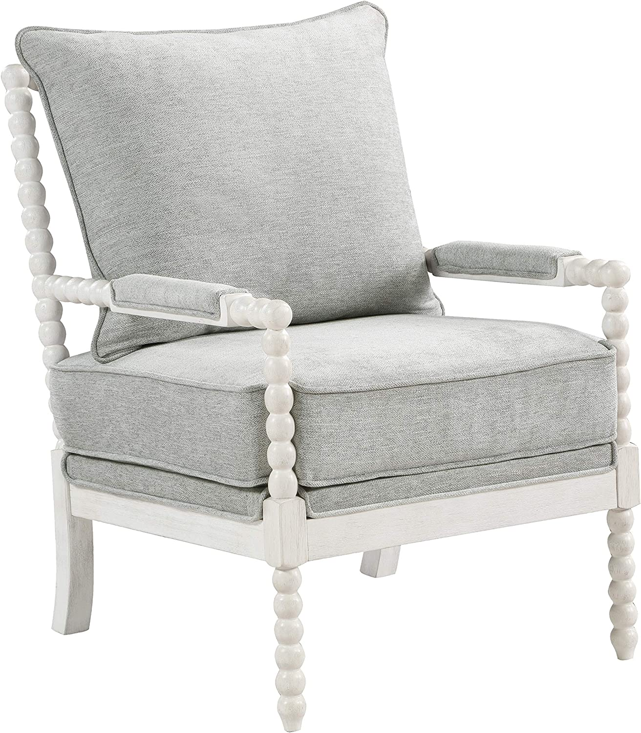 OSP Home Furnishings Kaylee Tucson Mall Spindle Frame Accent White Chair wi Max 51% OFF