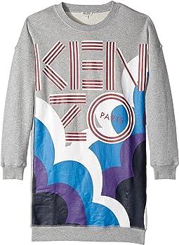 Kenzo Kids - Kenzo Logo Long Sleeves Long Tee Shirt Dress (Big Kids)