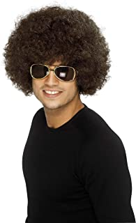 RH Smith & Sons LTD Smiffy's Men's 70's Funky Brown Afro Wig, One Size, 5020570420164