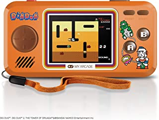 My Arcade Pocket Player Handheld Game Console: 3 Built In Games, Dig Dug 1 & 2, Tower of Druaga, Collectible, Full Color D...