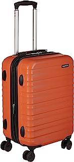 comprar comparacion AmazonBasics - Maleta de viaje rígida giratori- 55 cm, Tamaño de cabina, Naranja fuerte