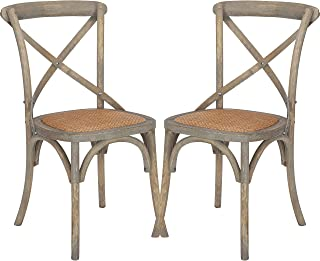 Poly and Bark Cafton Crossback Chair in Weathered Oak (Set of 2)