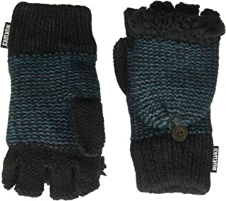 Muk Luks Men's Fingerless Flip Mittens