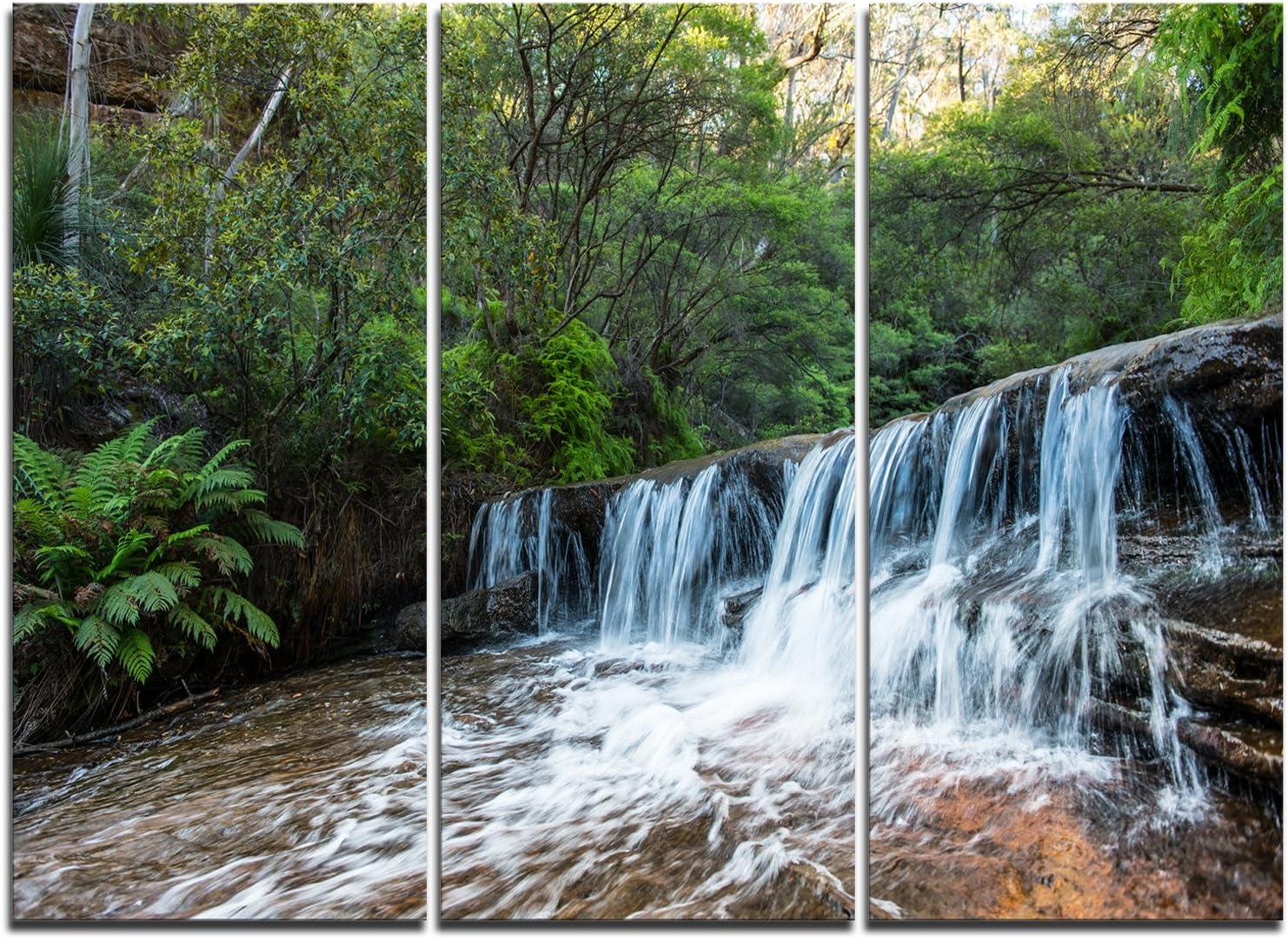 レビューを書けば送料当店負担 Designart Beautiful Waterfall in Pri New 『1年保証』 Australia-Landscape Art