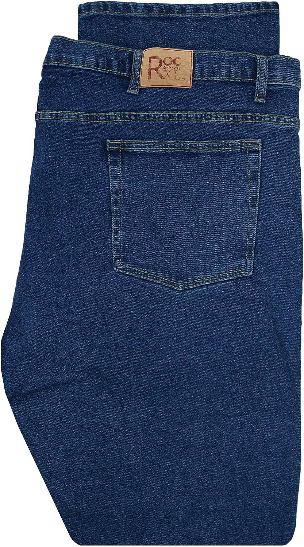 ROCXL Big & Tall Men's Stretch Denim Jeans Sizes 44-68 Medium Blue