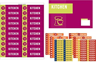 Well Planned Move Color Coded Moving Labels - 600 Labels + Room Signs | Up to 4 Bedrooms + Office + 2 Blank Sets