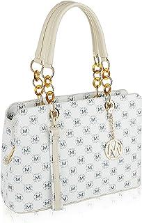MKF Crossbody Satchel Tote Handbag for Women, Shoulder Strap – PU Leather Cross-Body..