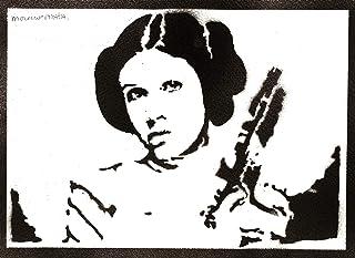 Poster Principessa Leila STAR WARS Handmade Graffiti Street Art - Artwork