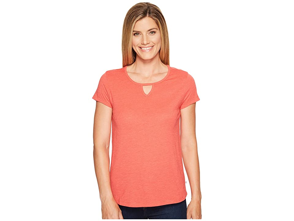 Toad&Co Palmilla Cut Out Short Sleeve Tee (Bright Coral) Women
