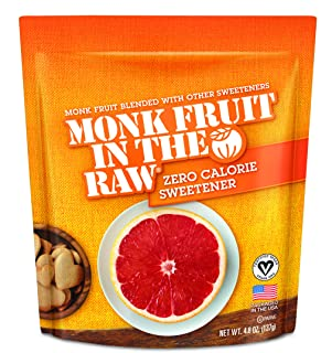 Monk Fruit In The Raw Sweetener, 4.8-Ounces