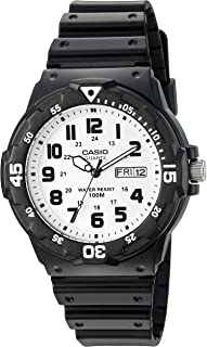 Casio Men's 'Classic' Quartz Resin Watch, Color:Black (Model: MRW200H-7BV)