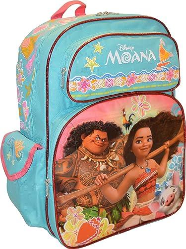 Moana, mädchen Kinderrucksack Blau Aqua Blau- Rosa L
