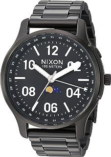 Nixon Men's Ascender Japanese-Quartz Watch with Stainless-Steel Strap, Black, 21 (Model: A12082474)