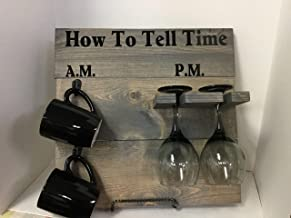 How To Tell Time, AM PM coffee and wine stained gray