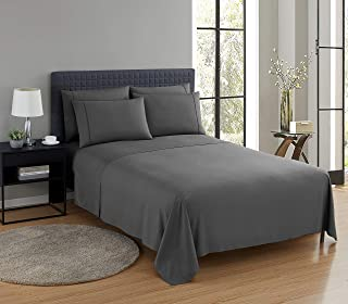 Nestl Saniwoven Hypoallergenic Sheets with Silvadur Technology   4 Piece Soft Microfiber Sheet Set   King Fitted Sheet, Fl...