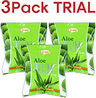 HiBee Aloe Plum L Constipation Relief - Dried Plums with Aloe & Herbs - All-Natural Laxative & Colon Detox Cleanse - Whole Food Laxative, Promotes Healthy Weight Loss & Fat Burning - Pack of 3
