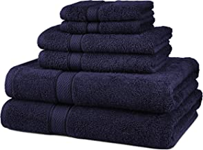 Pinzon 6 Piece Blended Egyptian Cotton Bath Towel Set - Navy