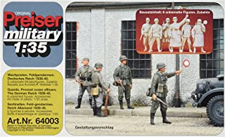Preiser 64003 Military Personnel Unpainted The German Reich 1939 45 Guard 1/35 Scale Military Model Figure