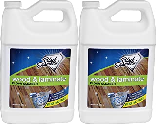 Black Diamond Stoneworks Wood & Laminate Floor Cleaner: for Hardwood, Real, Natural & Engineered Flooring –Biodegradable Safe for Cleaning All Floors (2 gallons)