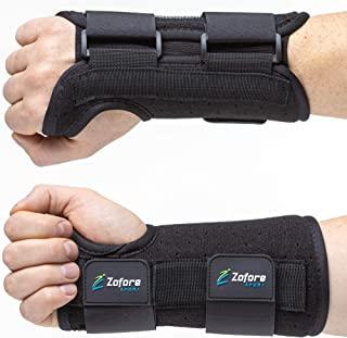 Carpal Tunnel Wrist Brace Support and Metal Splint Stabilizer [Single] - Helps Relieve Tendinitis Arthritis Carpal Tunnel ...