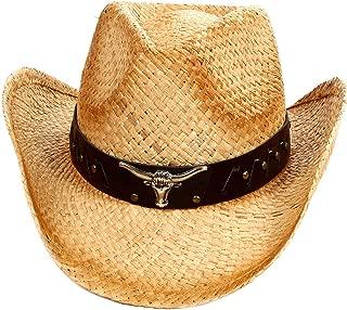 D Diana Dickson Kid's Straw Cowboy Hat w/Hat Band