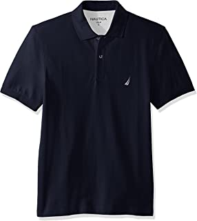 Nautica Mens K51701 Short Sleeve Solid Cotton Pique Polo Shirt Short Sleeve Polo Shirt