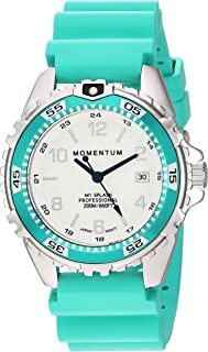 Women's Quartz Watch | M1 Splash by Momentum| Stainless Steel Watches for Women | Dive Watch with Japanese Movement & Analog Display | Water Resistant ladies watch with Date – Lume / Aqua Rubber