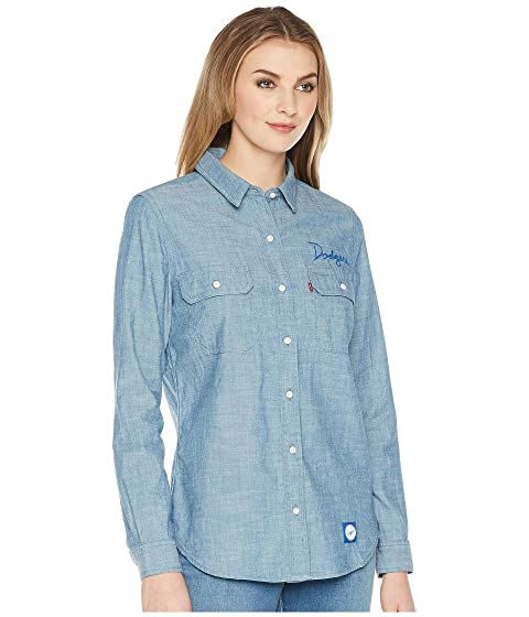 Levi's® Shirt Womens Los Angeles Dodgers Chambray AFUApqr1