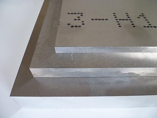 B/&T Metall Aluminium Platte blank gewalzt natur 50,0mm stark 5 x 100 cm Gr/ö/ße 50 x 1000 mm