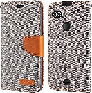 AGM X2 fodral, Oxford läder plånboksfodral med mjukt TPU bakstycke magnet flip fodral för AGM X2 SE