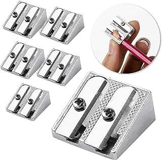 Mr. Pen Handheld Metal Pencil Sharpener with 2 Holes, Pack of 6
