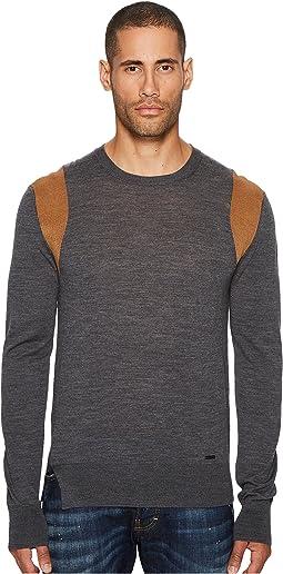 Contrast Shoulder Sweater
