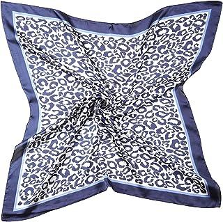 Silk Hair Scarf Animal Print Leopard Neck Scarf Summer Neckerchief for Women