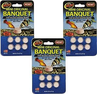 Zoo Med Laboratories Mini Banquet Block Feeders - 18 Blocks Total (3 Packs with 6 Blocks per Pack)