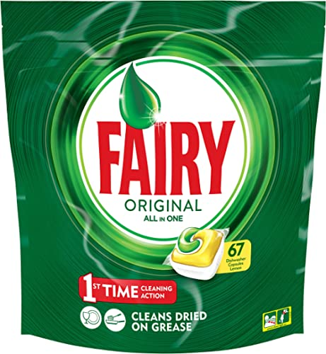 Fairy All in One Lemon Dishwasher Tablets 67 Capsules