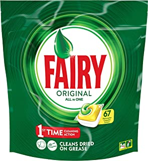 Fairy All in One Lemon Dishwasher Tablets, 67 Capsules