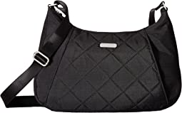 Quilted Slim Crossbody Hobo with RFID