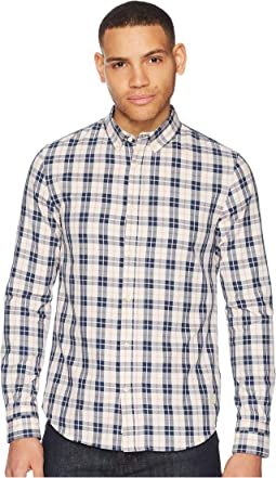 Classic Twill Shirt in Yarn-Dyed Check Pattern