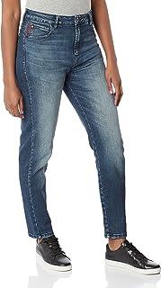 Calça Jeans Saphire Elastic Mom, Ellus, Feminino, Lavagem média, 42