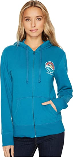 Life is Good - Circle Ocean Go-To Zip Hoodie