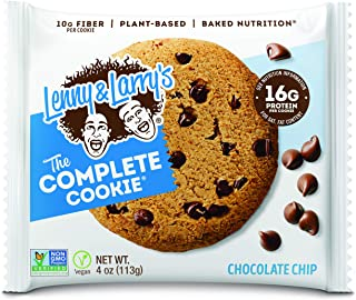 Lenny & Larry's The Complete Cookie, Chocolate Chip, Soft Baked, 16g Plant..
